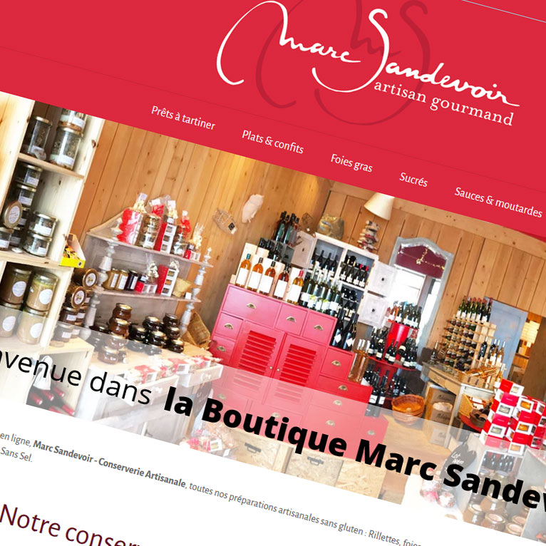 Boutique Woocommerce Marc Sandevoir